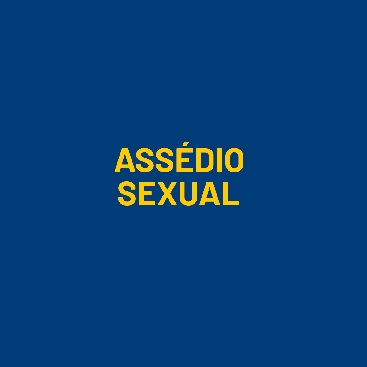 Assédio Sexual